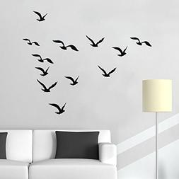N.SunForest Vinyl Wall Decal Stickers Flying Sea Gull Patter