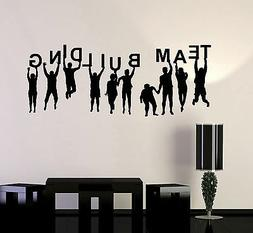 Vinyl Wall Decal Team Building People Work Office Decor Busi