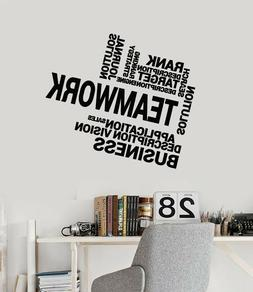 Vinyl Wall Decal Teamwork Business Office Decor Solution Vis