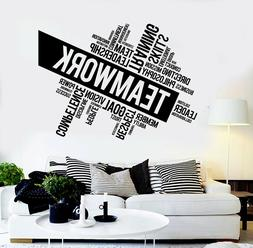 Vinyl Wall Decal Teamwork Success Office Decor Worker Sticke