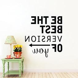 N.SunForest Vinyl Wall Decal Letters Be the Best Version of