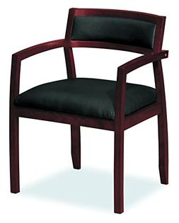 HON HVL852.N.SB11 Topflight Wood Guest Chair -  Leather Seat