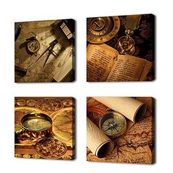 Wall Art Navigation Canvas Painting Framed Ready to Hang - 4