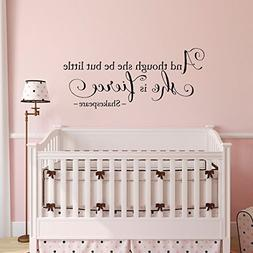 wall decal stiker word she