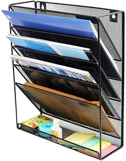 Wall Hanging File Holder Organizer for Office Home, 5-Tier B