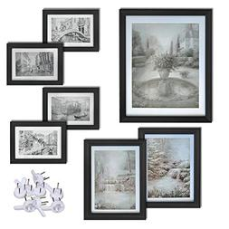 Giftgarden Black Picture Frames Set Wall Gallery Frame Kit,