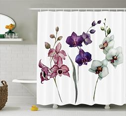 Ambesonne Watercolor Flower Decor Collection, Different Kind