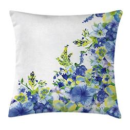 Ambesonne Watercolor Flower House Decor Throw Pillow Cushion