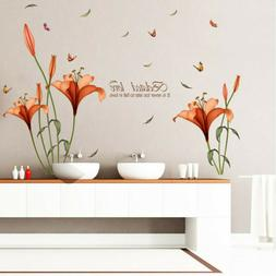 Waterproof Flower Sticker Home Decor Room Office Wall Sticke