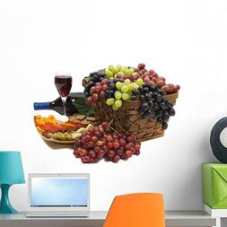 Wallmonkeys Wine and Grapes Wall Decal Peel and Stick Graphi