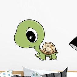 Wallmonkeys WM32188 Cute Baby Turtle Wall Decal Peel and Sti