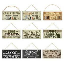 Wood Decorative Wall Sign For Office Garden Street Bedroom D