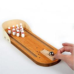 Best Wood Mini Bowling Game Set - Toys Interesting Wooden Mi