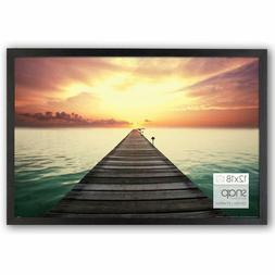 "Wood Photo Frame Poster Picture 12""x18"" Glass Cover Home Off"