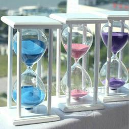 Wooden 30/60 Minutes Sand Glass Hourglass Timer Clock Home O