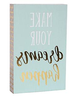 SANY DAYO HOME 7 x 5 inches Wooden Box Sign with Inspiration