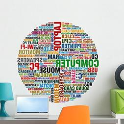 Wallmonkeys Word Collage about Computer Wall Decal Peel and