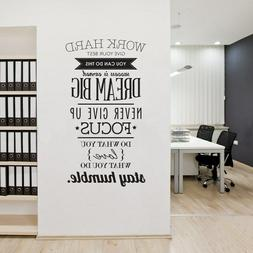 Work Hard Dream Big Wall Sticker Quotes Decoration for Home