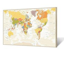 Kreative Arts Large Size World Map Large Modern Stretched an