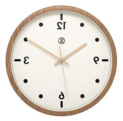 "JustNile x A.Cerco 13"" Analog Wall Clock, Non-ticking Precis"