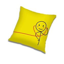 Yellow Pillow Case Waist Throw Cushion Cover Home Office Sof