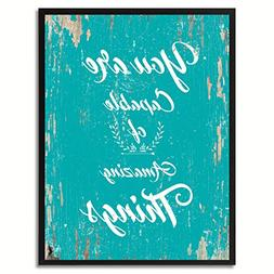 SpotColorArt You are Capable of Amazing Things Canvas Print,