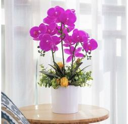 Yuyao Artificial Orchid Bonsai With Vase Office, Table Decor