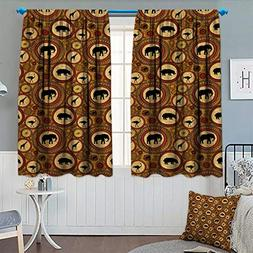 Chaneyhouse Zambia Room Darkening Curtains African Ethnic An